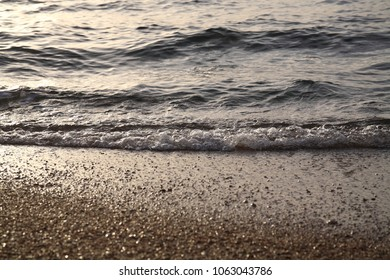 Sea waves, closeup image, sunrise, Egypt