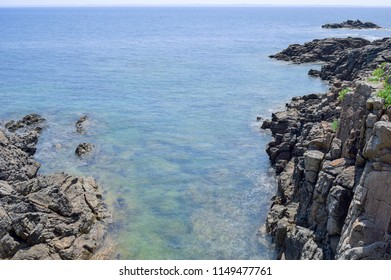 Sea with waves and rocks