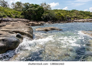 Sea waves and rocky at Koh Kood Island in Trat province of Thailand.