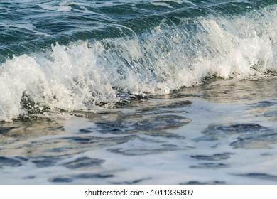 sea waves shore landscape