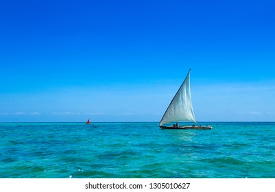 sea in Zanzibar beach. Natural tropical water paradise. nature relax. Travel tropical island resort.