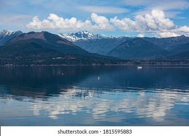 Seabeck, Hood Canal, Washington State, boat sails, Hood Canal, Olympic Mountains