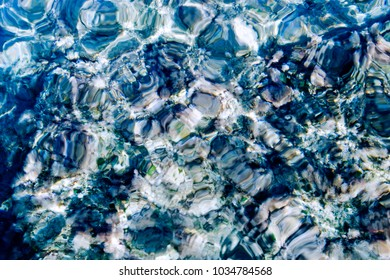 seabed with stones in the Mediterranean Sea