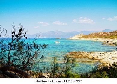 Seaboard way through Desert of Agriates to plage of Saleccia, Corsica- The Isle of Beauty, France