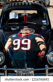 Seabrook, TX, US - Nov 05, 2017: VW with Houston Texans JJ Watt theme on display at the WOLFSBURG EDITION 5 car show at Clear Lake Park in Seabrook Texas.