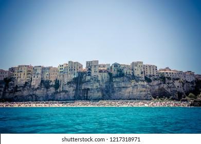 Seacoast near the wonderful village of Tropea in Calabria Italy