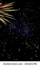 seafire, an annual firework competition on the gold coast, australia.
