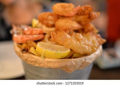 Seafood Basket, European Cuisine