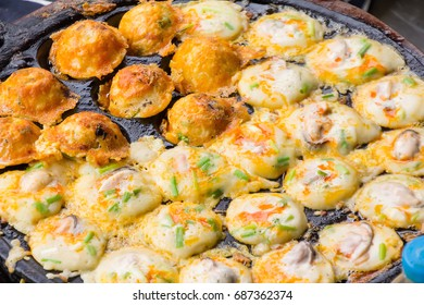 Seafood Cake in a Hot Stove, Thai Desserts