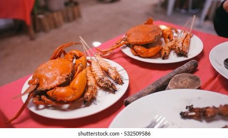 seafood crab and shrimp