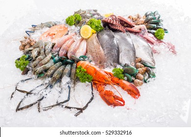 Seafood fresh background for your dinner food.