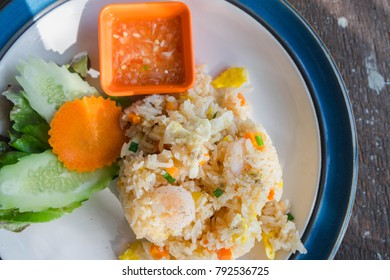 seafood fried rice and Shrimp fried rice