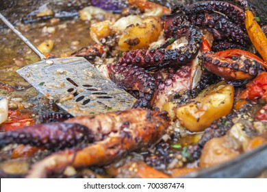 Seafood Grilled Octopus with Vegetable