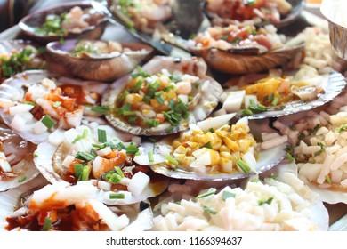 seafood, Grilled shellfish
