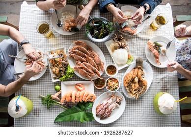 ัThaifood Seafood Grilled Squid  food  fish hotel shrimp