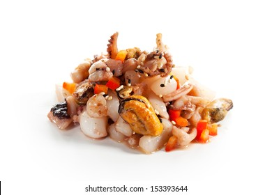 Seafood Isolated over White