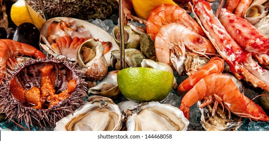 A seafood mix