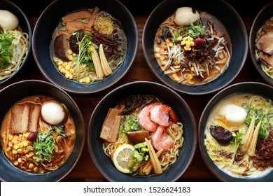 Seafood ramen, traditional ramen, Japanese, rice, soft boiled egg