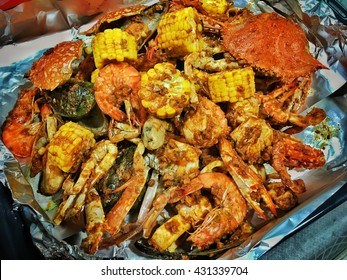 Seafood with roasted chilli pasted.