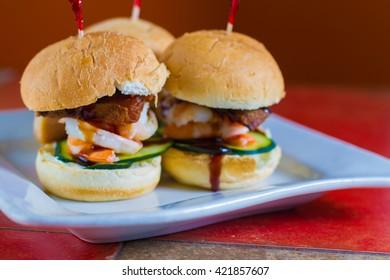 Seafood sliders