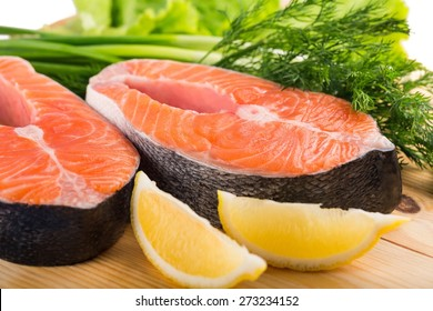 Seafood, steak, fish.