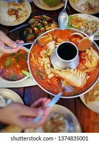 Seafood tomyam, absolutely delicious & must try menu in Thailand