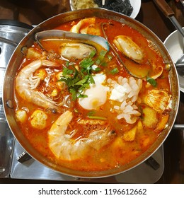 Seafood Tomyam Thai-Style Spicy Soup