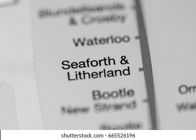 Seaforth & Litherland Station. Liverpool Metro map.