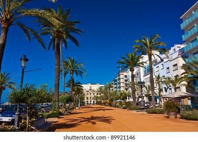Seafront of Lloret de Mar Costa Brava Spain