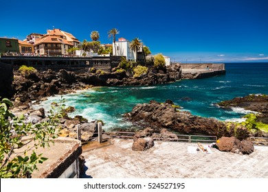 the seafront near the beach of San Telmo in Puerto de la Cruz, Tenerife, Spain