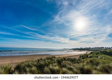 Seahouses is a large village on the North Northumberland coast in England. It is about 20 kilometres (12 mi) north of Alnwick, within the Northumberland Coast Area of Outstanding Natural Beauty. - Shutterstock ID 1944629077