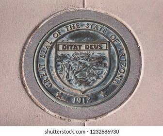 The seal of the State of Arizona at Four Corners US