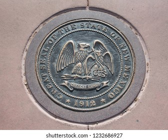 The seal of the State of New Mexico at Four Corners US