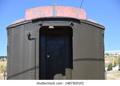 Sealed entrance to an old train car