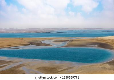 sealine and Khor Al-udeid area in southern Qatar
