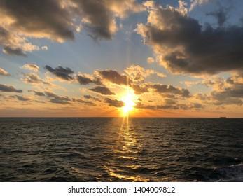 Seaman's life at huge ocean