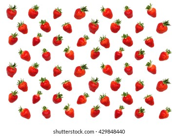 Seamles strawberry pattern on white background