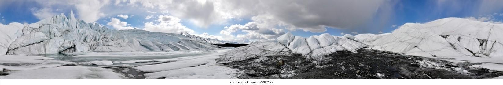 Seamless 360 deg. Panorama of a glacier in Alaska