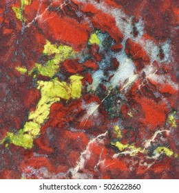 Seamless abstract background. Jasper natural stone texture. Amazing natural pattern and texture of mineral for background. Natural illuminating stone for decoration.