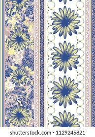 seamless abstract floral border