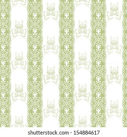 Seamless abstract pattern with decorative elements