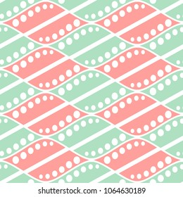 Seamless abstract pattern. symmetrical geometric repeating background with decorative rhombus. Simle graphic design for web backgrounds, wrapping, surface, fabric