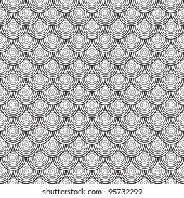 Seamless abstract texture - background of the circles