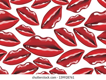 seamless background with lips