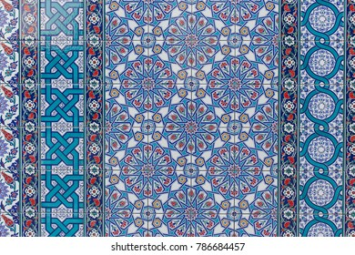 Seamless background made of turkish ceramic tiles