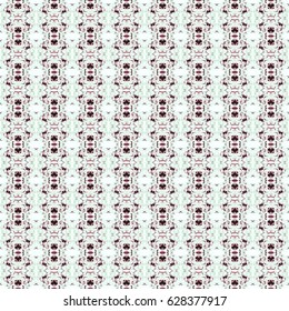 Seamless background pattern in retro style, hand painted illustration. Fabric swatch, wrapping ,craft paper.
