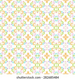 Seamless background with watercolor rings. Hand drawing watercolor circles. Art seamless pattern colorful background. Can used for fabric, wrapping paper or cover.