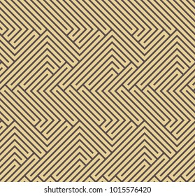 Seamless background for your designs. Modern golden ornament. Geometric abstract pattern