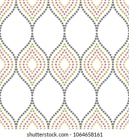 Seamless background for your designs. Modern ornament. Geometric abstract pattern