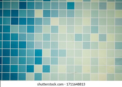 Seamless bathroom tiles mosaic texture background image